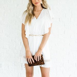 White Boho Boutique Dress
